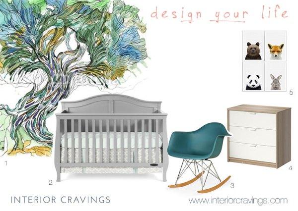 nursery interior design design board