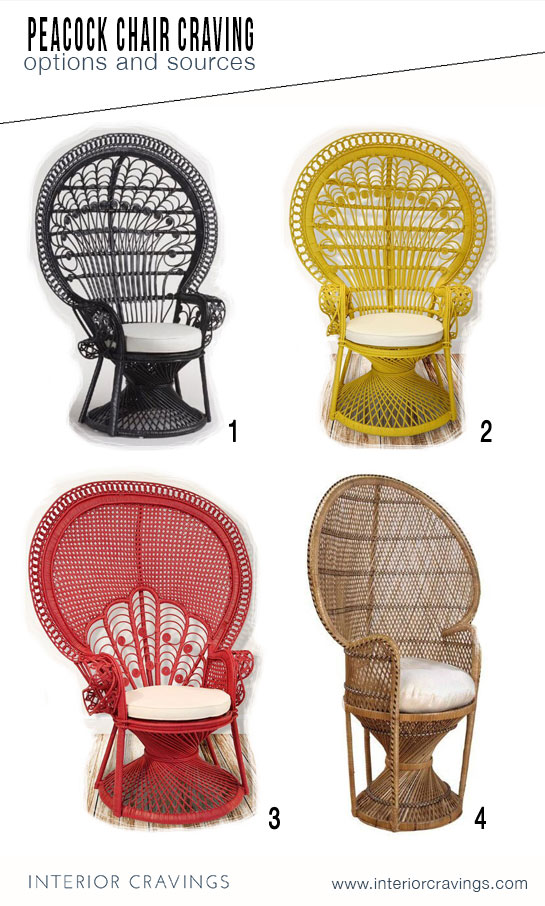 peacock chair cravings color options and sources