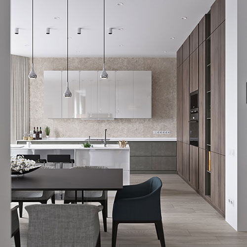 Neutral Modern Apartment By Anton Sukharev Interior