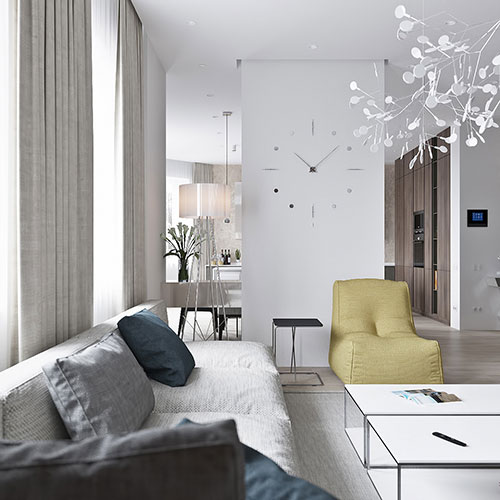 Living Room Design Tool: NEUTRAL MODERN APARTMENT By ANTON SUKHAREV