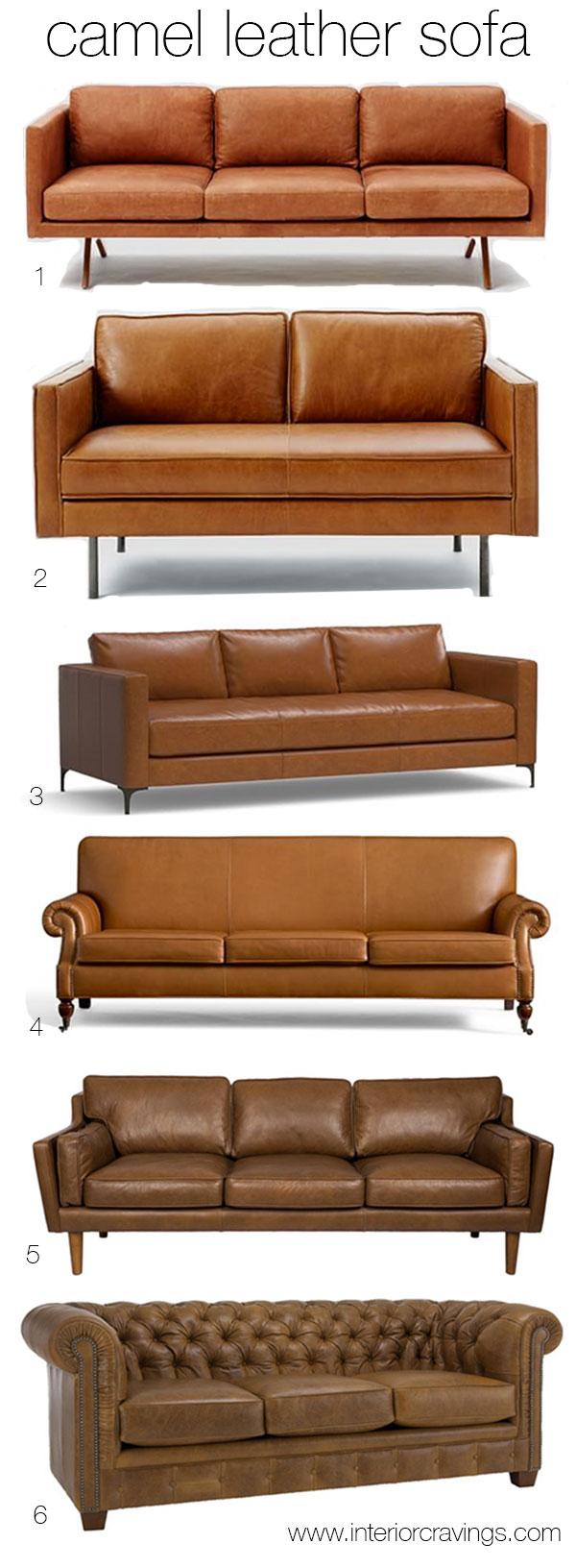 West Elm Leather Sofa Used
