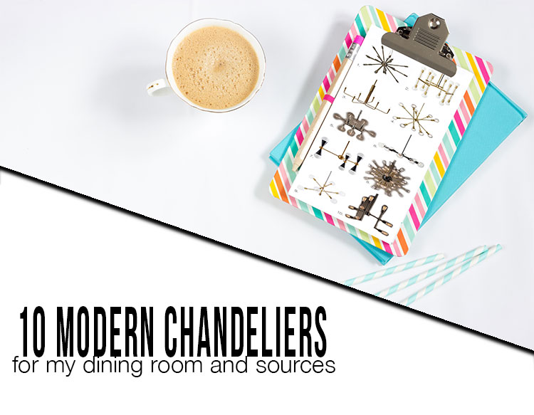 10 modern chandeliers for dining room with sources