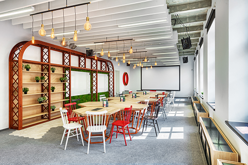 opera software offices wroclaw by modelina-eating area