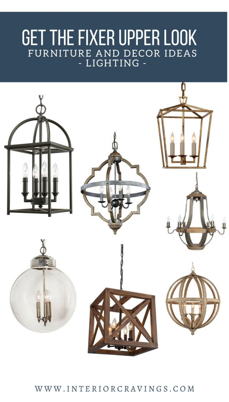 INTERIOR CRAVINGS GET THE FIXER UPPER LOOK LIGHTING