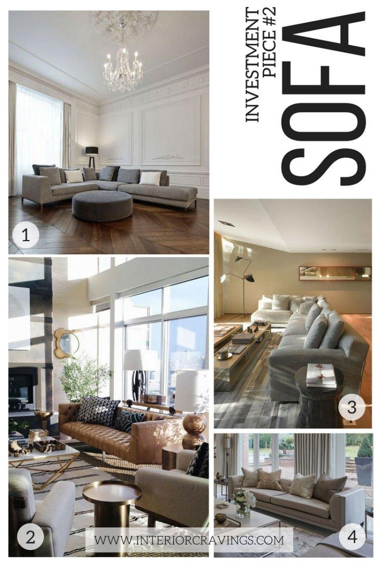 interior cravings - investment pieces in interior design sofa