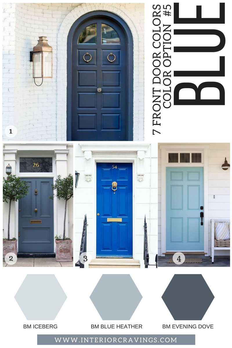 7 front door colors to make your home stand out interior - Blue front door colors ...