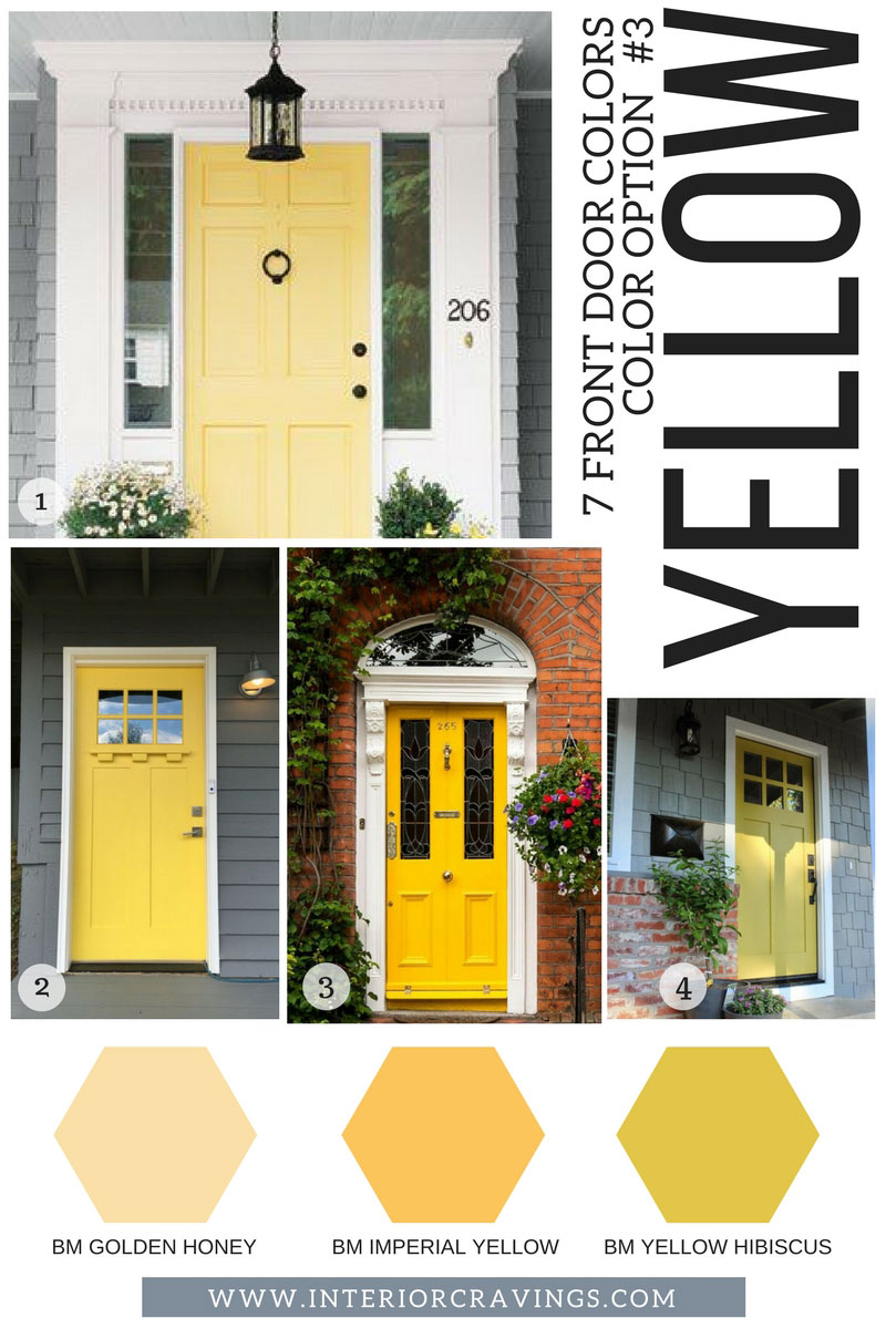 7 FRONT DOOR COLORS - yellow front doors inspiration and yellow paint codes and paint swatches