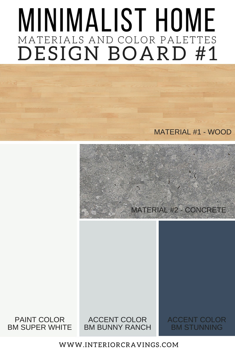 Minimalist home essentials materials and color palette interior cravings home decor for Color palette for interior design