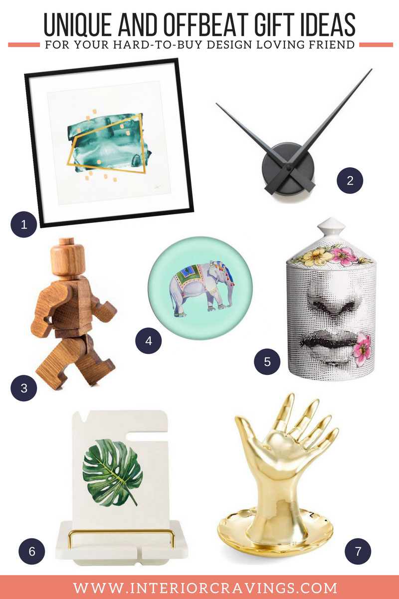 INTERIOR CRAVINGS unique and offbeat gift ideas for hard to buy design loving friends THE GIFT GUIDE 1
