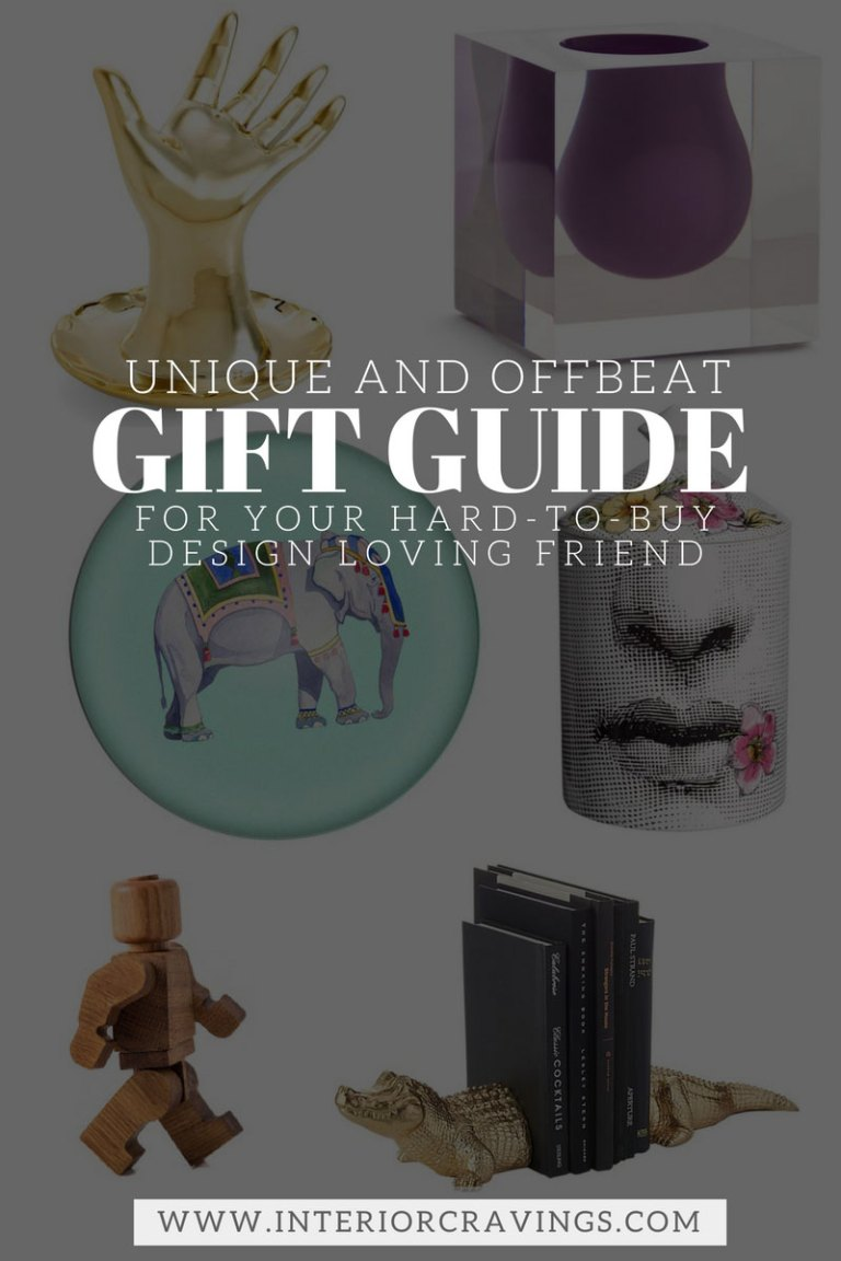 INTERIOR CRAVINGS unique and offbeat gift ideas for hard to buy design loving friends THE GIFT GUIDE