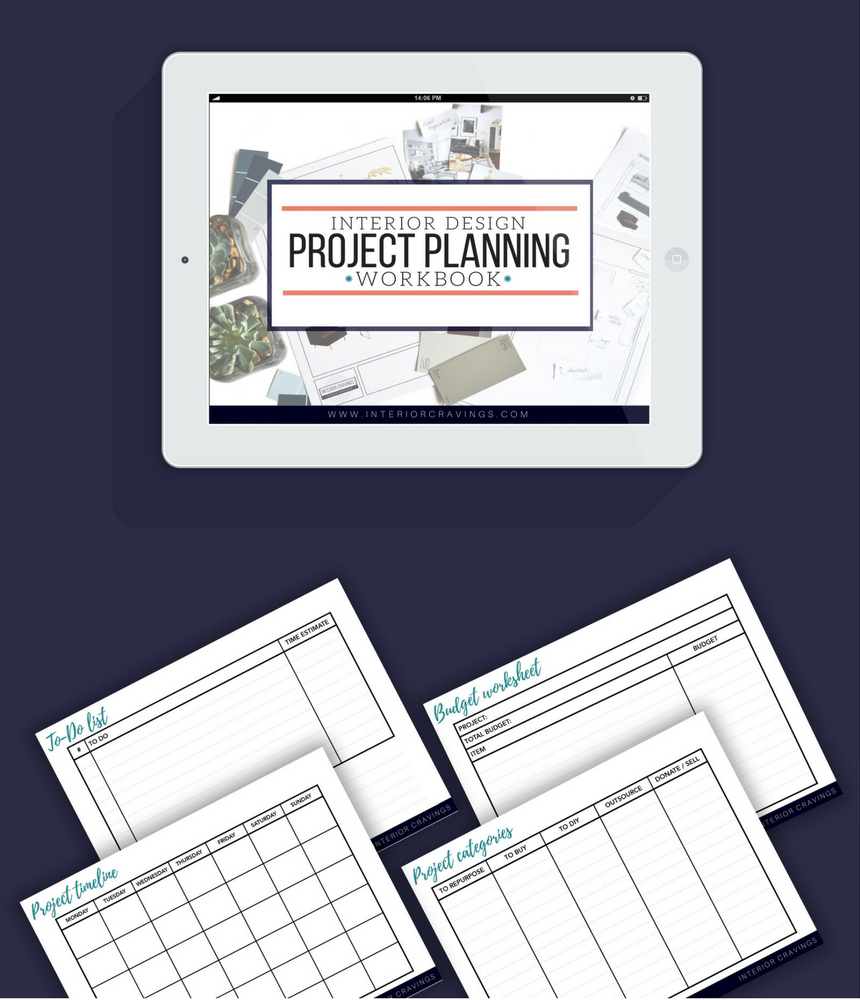 interior cravings project planning workbook and worksheets
