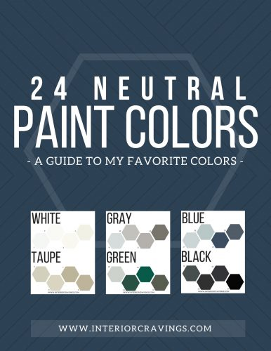 24 NEUTRAL PAINT COLOR GUIDE