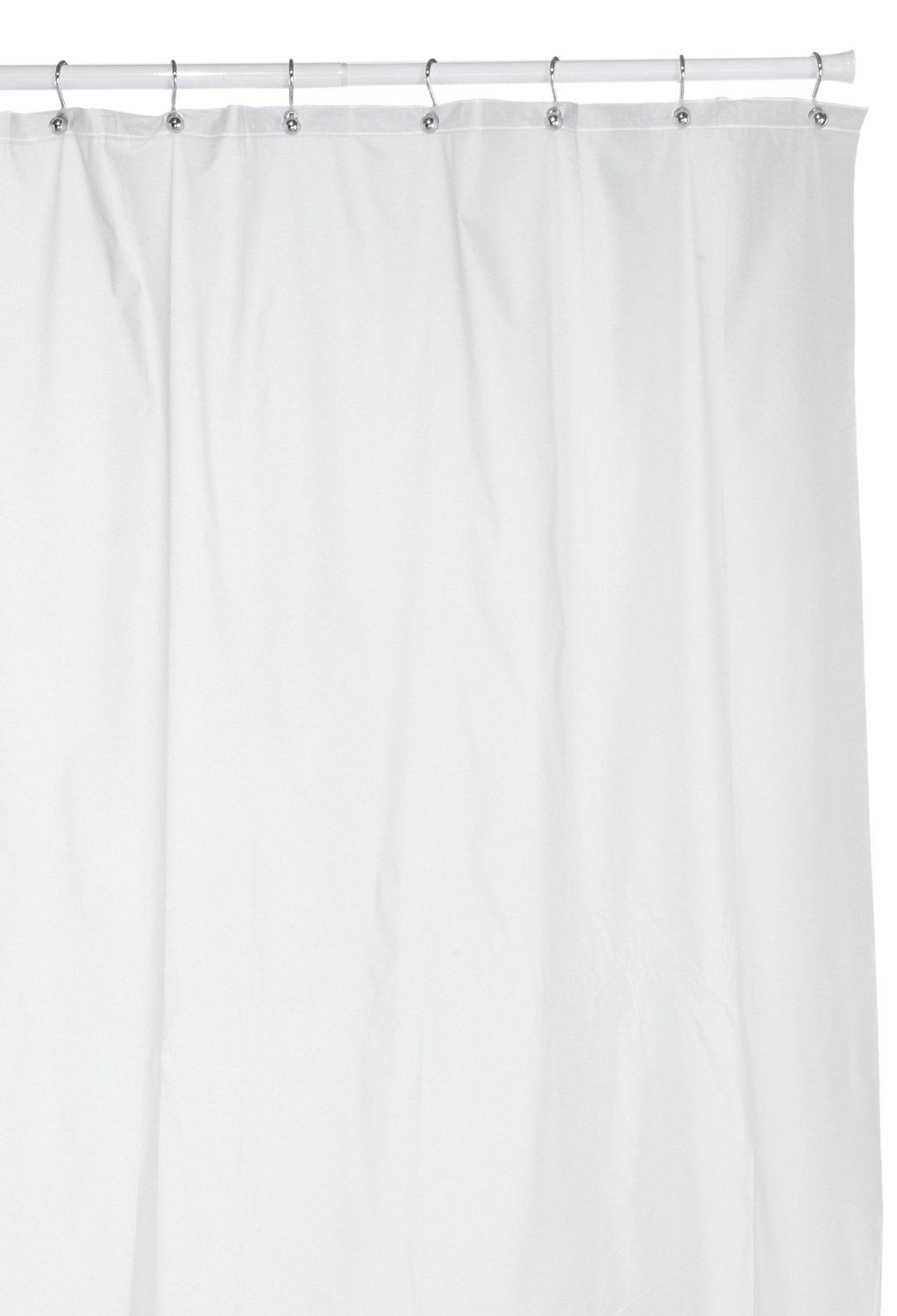 Hotel Quality 8 Gauge Vinyl Shower Curtain Liner Frost Clear