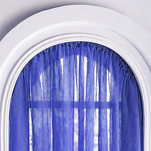 arch window curtains
