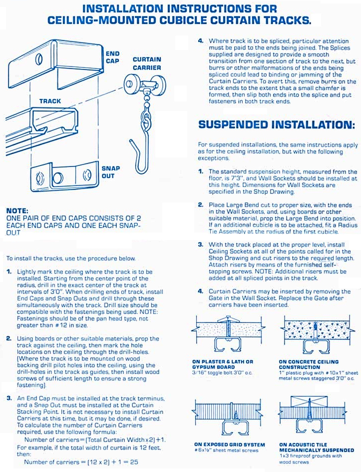 corded curtain track instructions