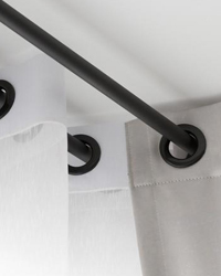 small curtain rods thin curtain rods