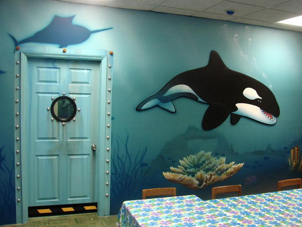 Underwater Bedroom Theme For Kids Interior Designing Ideas