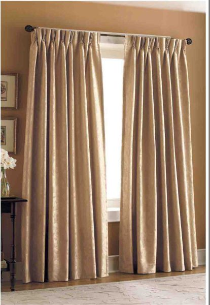 Curtain style that will suit your interiors     Interior Designing Ideas Pinch Pleat Curtain 08001