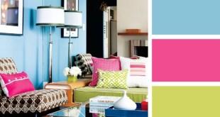 Blue-and-hot-pink-interior-colour-scheme