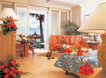 Карибский отдых, оформленный с использованием дополнительной цветовой схемы