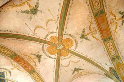 Аналогичная цветовая схема для окрашенного потолка Trompe l'oeil