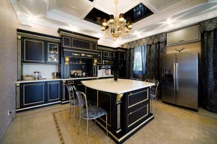 Черно-белая кухонная цветовая схема