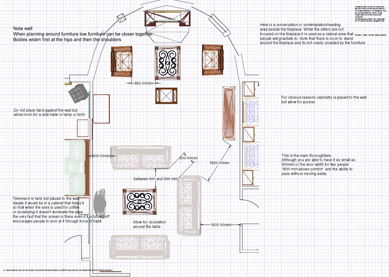 Planning Spaces In A Living Room Take Bubble Diagrams Further