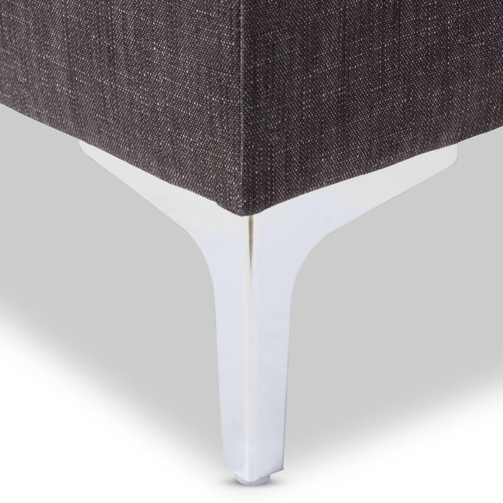 Baxton Studio Riley Modern and Contemporary Grey Fabric ... on Riley 3 Piece Sectional Charleston id=92033