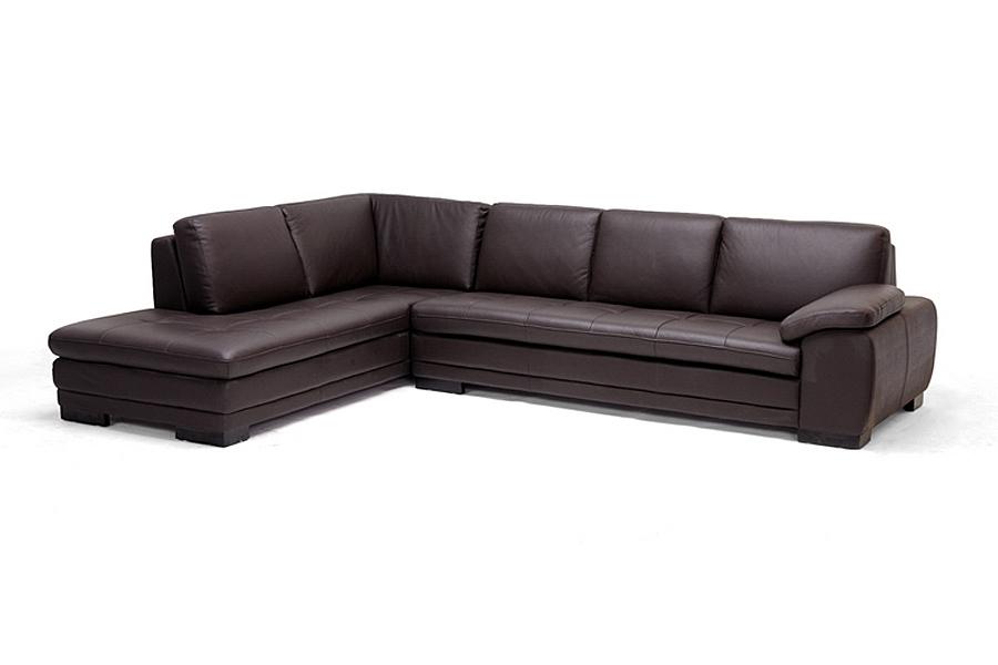 diana dark brown modern leather sofa sectional reverse