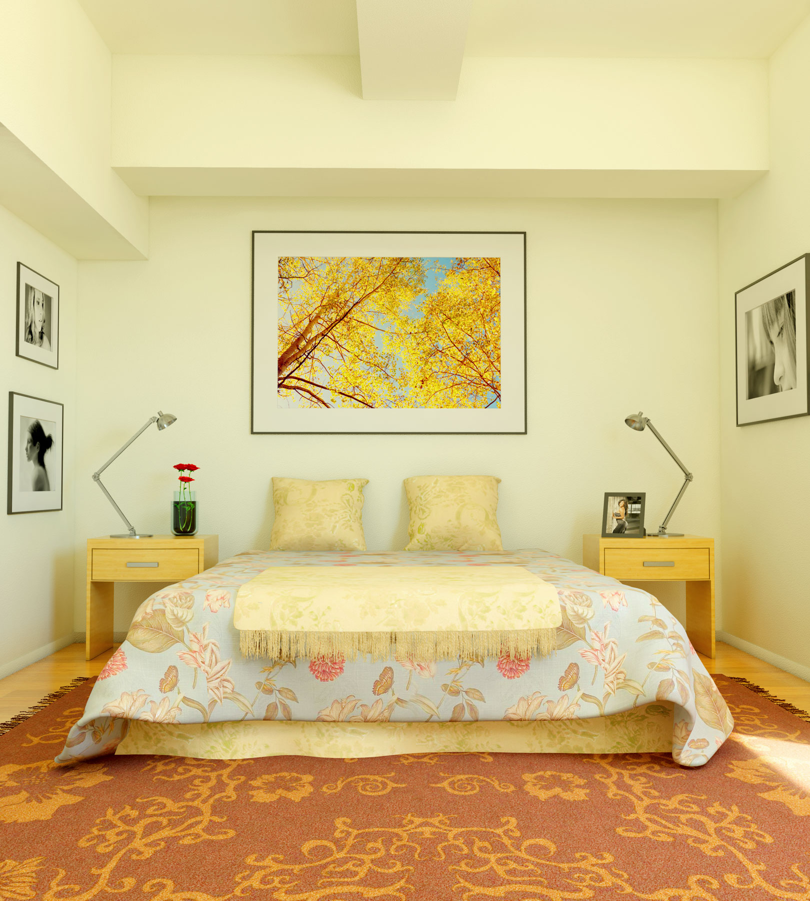 Interior Exterior Plan | Uncomplicated Bedroom Style in a ... on Beautiful Small Room  id=83814