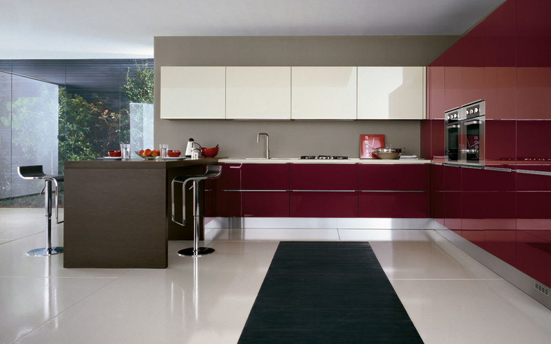 Interior Exterior Plan Wine Red Shade In Kitchen Will