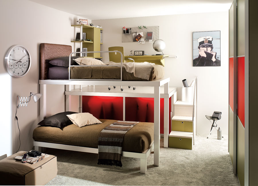 Interior Exterior Plan | Use bunk beds for your teens ... on Teenage Bed  id=35327