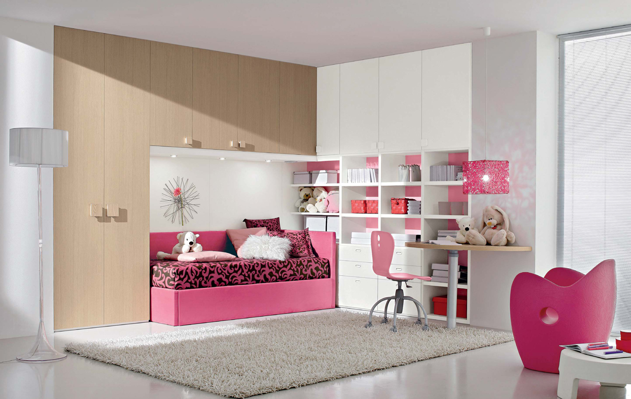 Interior Exterior Plan | Ideal pink bedroom idea for young ... on Girls Bedroom Ideas For Very Small Rooms  id=53124