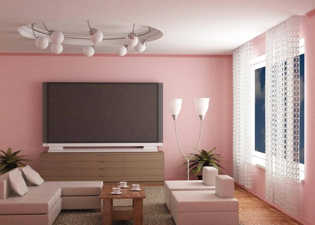 Amazing Pink Living Room