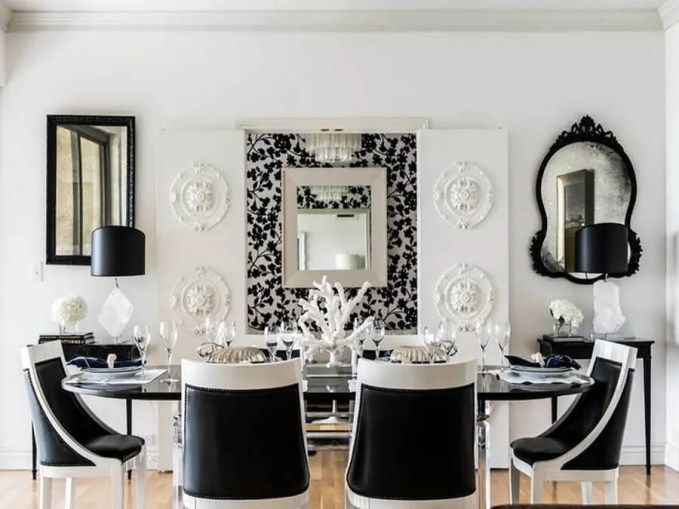 Black-And-White-Contemporary-Dining-Room-Ideas
