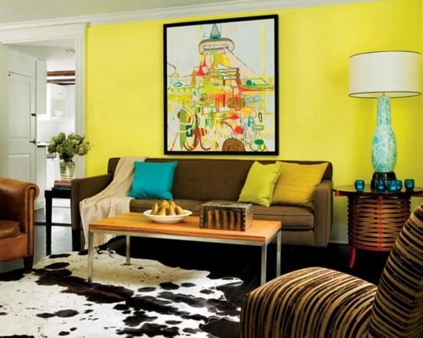 Lime Yellow Living Room