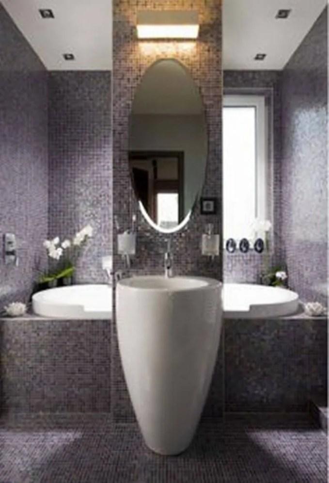 Sleek Purple Bathroom