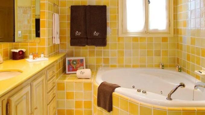 Beautiful Yellow Bathroom