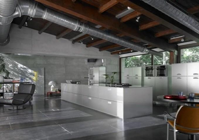 Dramatic Industrial Kitchen