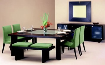 10 Fresh Green Dining Room Interior Design Ideas
