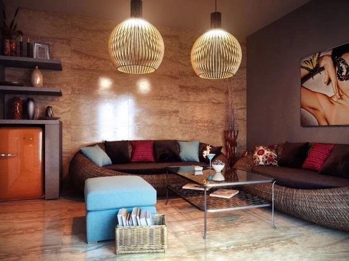 Sleek Eclectic Living Room