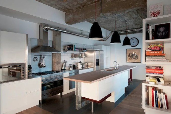 Sleek Industrial Kitchen