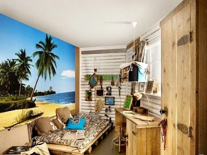 teenage-beach-bedroom