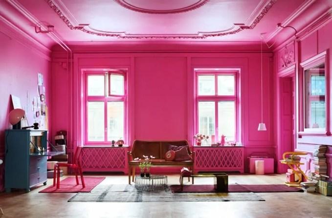 Amazing Hot Pink Living Room
