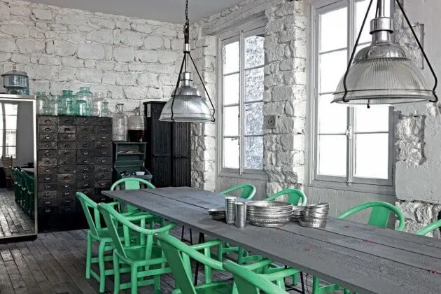 Bold Industrial Kitchen