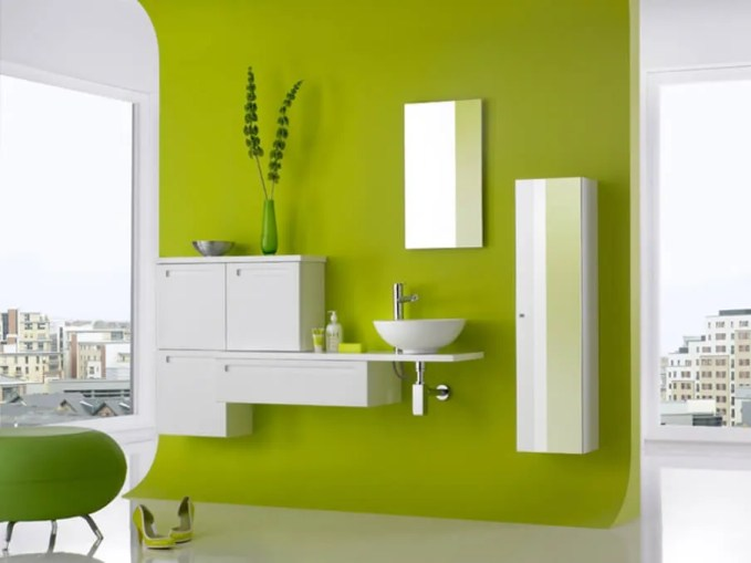 Cool Green Bathroom