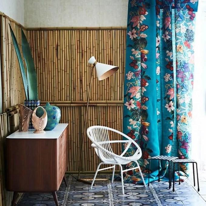 Tropical-Print-and-Bamboo-Hallway-Homes-and-Gardens-Housetohome