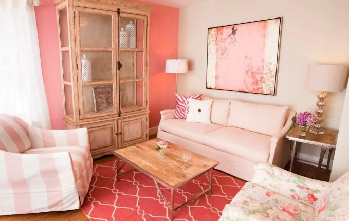 Vintage Pink Living Room