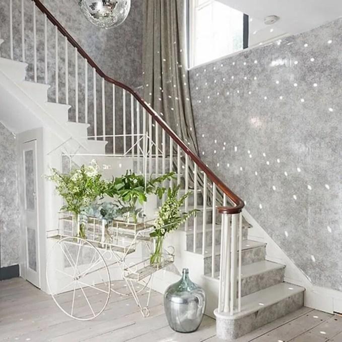 White-and-Glitter-Ball-Hallway-Livingetc-Housetohome