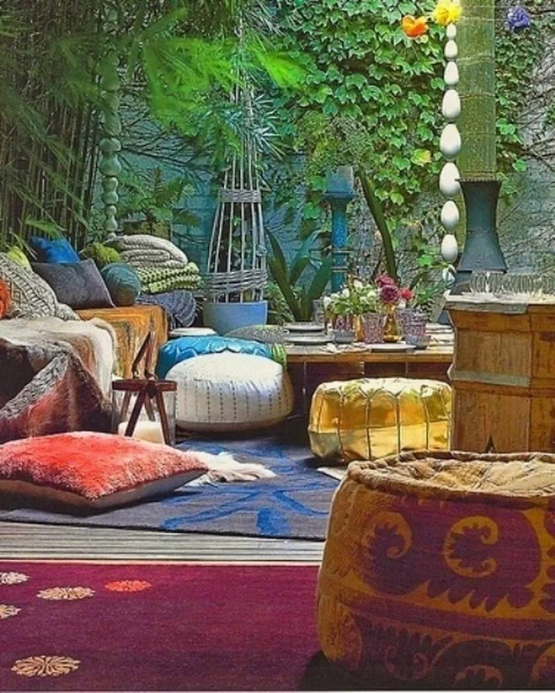 10 Charming Bohemian Patio Design Ideas - http ... on Meditation Patio Ideas  id=96127